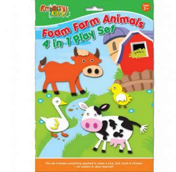 Farm  Animals Foam Creative Activity Play Set No Glue Required Cow